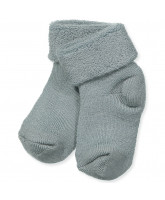 Green wool baby socks