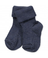 Blue wool baby socks