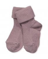 Purple wool baby socks