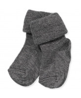 Grey wool/silk socks