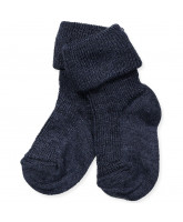 Navy wool/silk socks