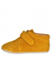 Mustard slippers - suede