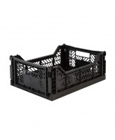 Folding box midi - black
