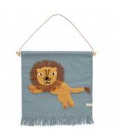Jumping Lion wallhanger