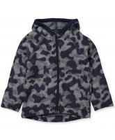 Camo wool fleece jacket