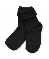 Black wool baby socks