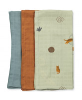 3 pack tiger muslin cloths