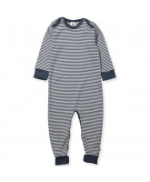 Organic striped playsuit