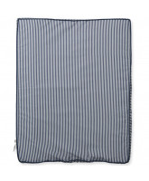 Organic striped changing cushion