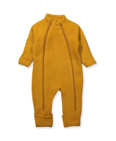 Curry wool fleece playsuit
