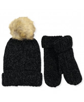 Black hat and mittens