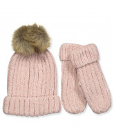 Rose hat and mittens