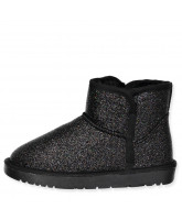 Black glitter winter boots