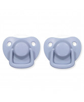 2 pack powder blue dummies 0-6 months