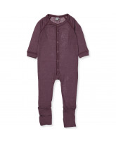 Plum wool playsuit