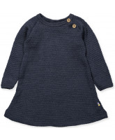 Navy wool dress