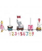 Birthday train with 9 numbers - Princess