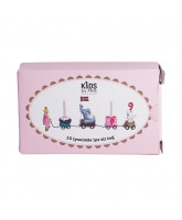 10 pack candles for birtday train - pink
