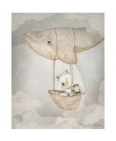 Flying Whale poster - 40x50 cm