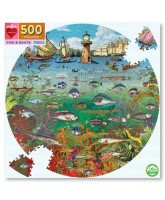 Puzzle 500 pcs - Fish and boats
