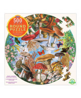 Puzzle 500 pcs - Mushrooms and butterflies