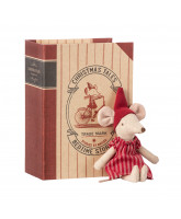 Christmas mouse in book - big sister