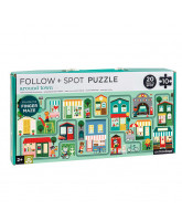 Follow puzzle - town