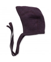 Organic wool fleece baby hat