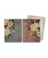 2 pack Peonies cards