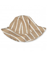 Beige striped sun hat