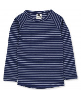 Navy rib LS t-shirt
