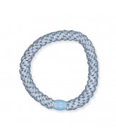Kknekki hair elastic - light blue glitter