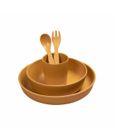 Golden mustard bamboo dinner set