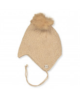 Camel wool baby hat