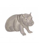 Wall sticker - Hippo baby