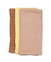 3 pack Line muslin cloths