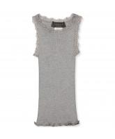 Light grey silk top