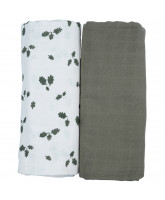 Organic 2 pack Oak Leaf swaddle