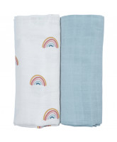 Organic 2 pack Rainbow swaddle