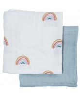 Organic 2 pack muslin cloth - Rainbow