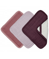 Organic 3 pack washcloths - Berry