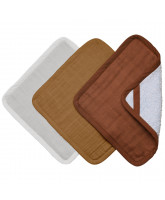 Organic 3 pack washcloths - Wood