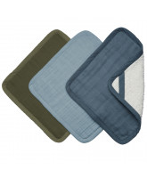 Organic 3 pack washcloths - Coastal