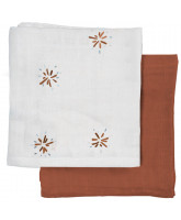 Organic 2 pack muslin cloth - Dandelion