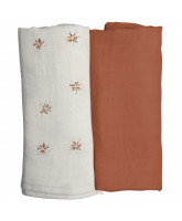 Organic 2 pack Dandelions swaddle