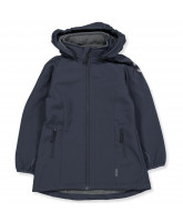Blue softshell coat