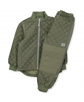 Olive green thermo set