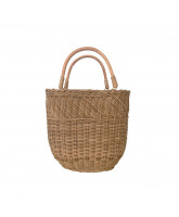 Natural bucket bag - small