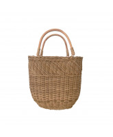 Natural bucket bag - large