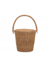 Natural Big Apple basket - large